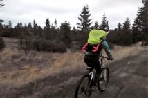 Do Krušných hor na kole, s berlema na baťohu