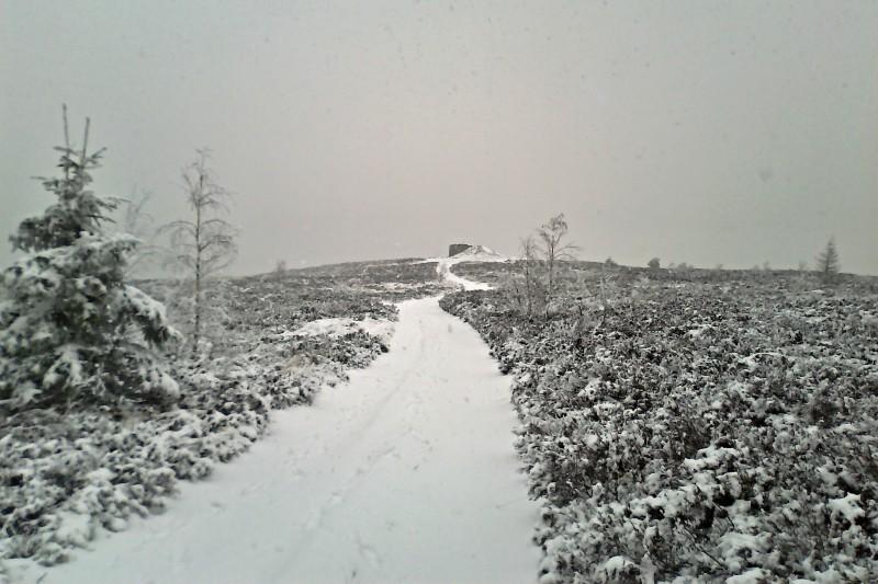 23km běžkařská trasa přes nejvyšší kopec Brd a bunkry na Jordánu