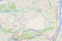12km MTB trasa - Okolo Jinonic
