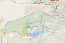 14km běžecká trasa - Velký šárecký okruh