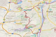 25km běžecká trasa od Národního divadla přes tři kopce na Letnou