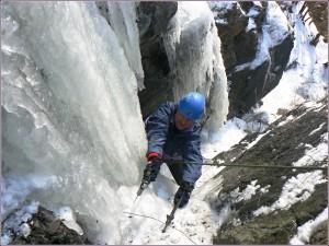 Zimní lezení ve Štěchovicích