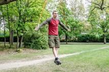 Kruhy: trénink sbalený na cesty