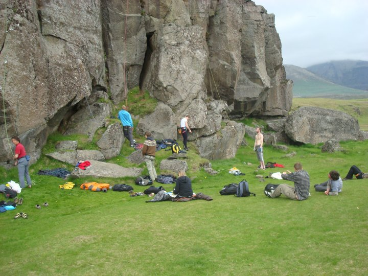 Lezení na Islandu