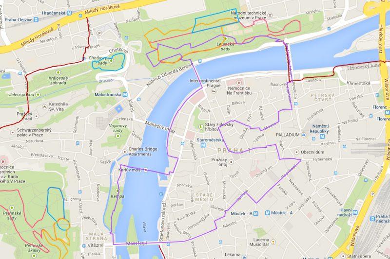 8km běžecká trasa – Starým Městem pražským trochu jinak