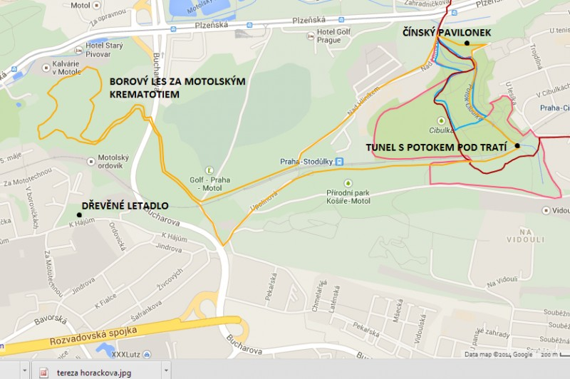 7km běžecká trasa: Z Cibulky do Motola s prémiovým průlezem tunelem pod tratí