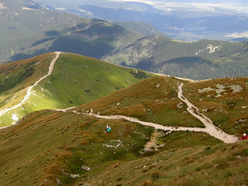 25km hike & run trasa v Západních Tatrách