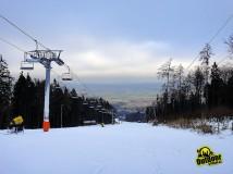 Lyže a snowboard na Monínci