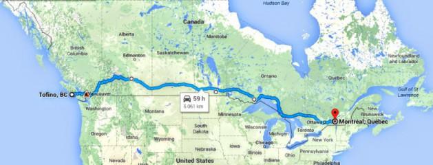 Stopem napříč Kanadou - část 1.