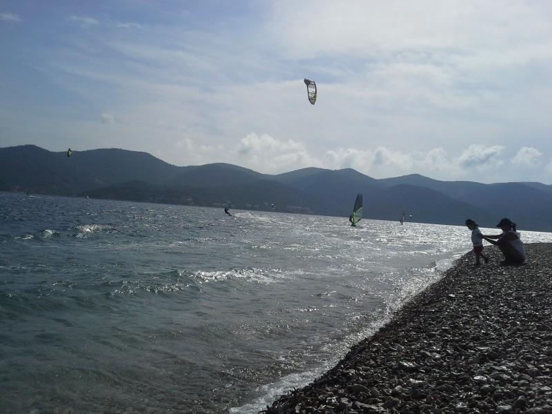 Windsurfing a kiting Viganj Peljesac