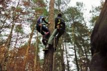 Orientační běh pražských horolezců 2014: kdo neumí lézt, sbíral body za nakreslené veverky