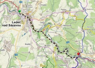 Královský 9km trail podél Stvořidel