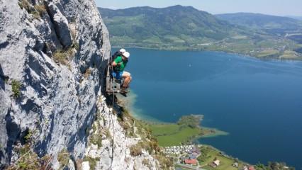 Drachenwand klettersteig nad Mondsee,Rakousko