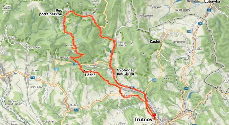 50km bike trip přes Černou horu