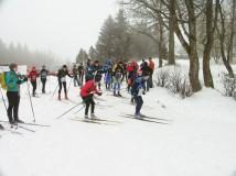 Uloveni fotopastí při skirogainingu v Krušných horách
