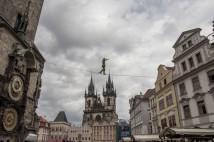 Přechod po highline přes Staroměstské náměstí: příběhy ze zákulisí