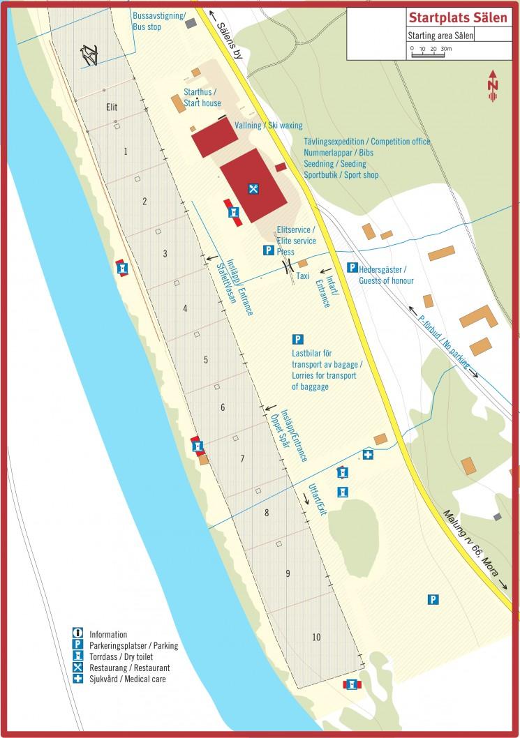 Mapka startovní Vasaareny