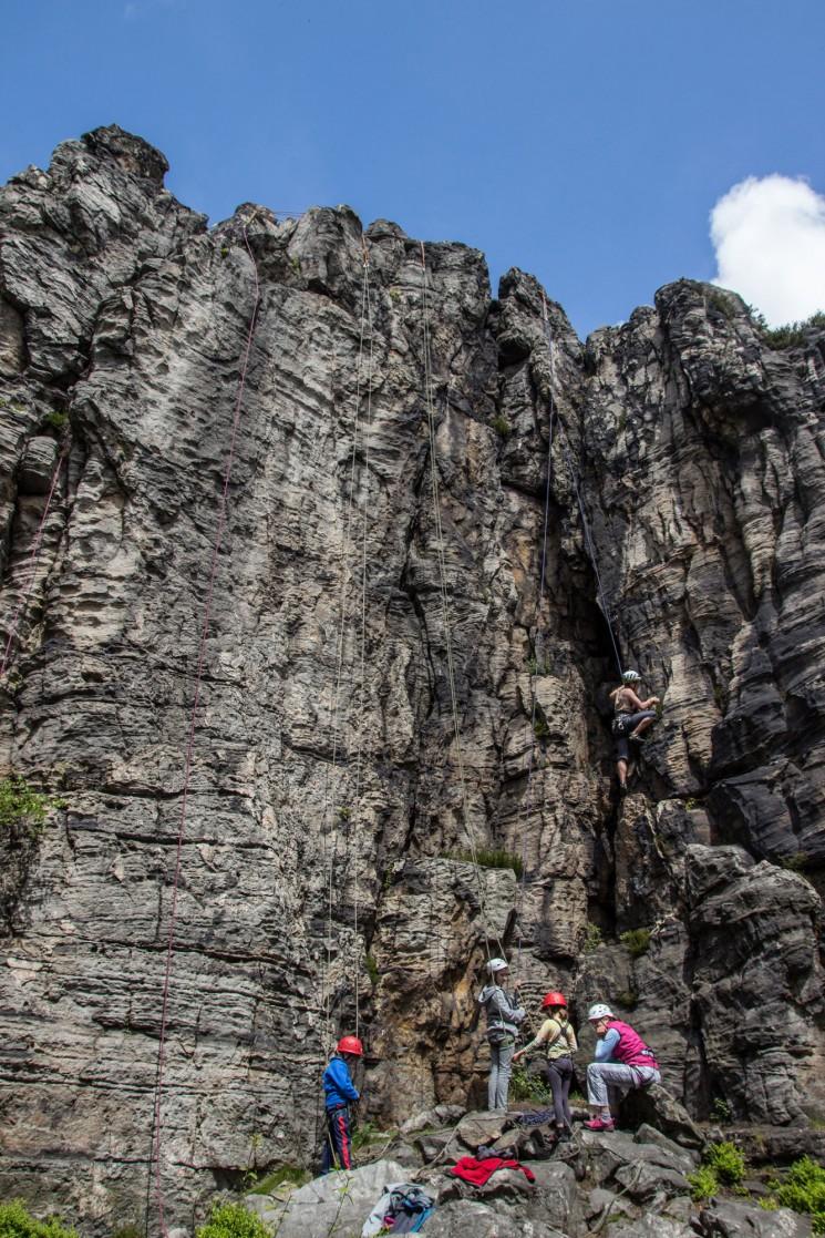 Nedělní lezecký sektor, foto: Mára S.