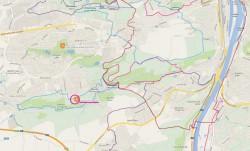 Mapa a trasy v okolí
