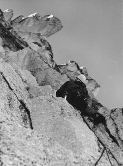 1982 Bergell Piz Cengalo prvovýstup poslední délka, Honza Ďoubal