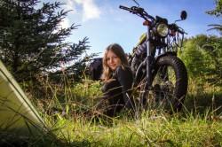 Mladá motorkářka Dominika Gawliczková v Norsku