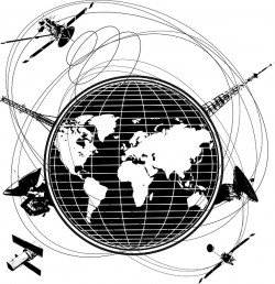 GPS systém v kontextu Země<br>Zdroj: www.pixabay.com
