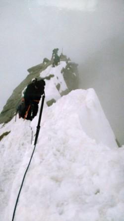 Finální hrebenovka mezi malým a velkým Glockneru