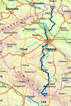 Trasa E10<br>Zdroj:cykloserver.cz