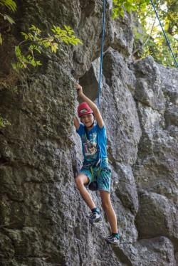 Michal na táboře na Kozelce, foto: Mára S.