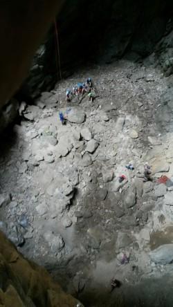 Lezení v jeskyni