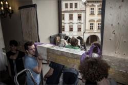 Přípravy kotvení na radnici, foto: Marek Smolka