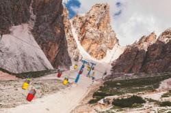 Stařičká kabinková lanovka na masív Monte Cristallo<br>Foto: Tomáš Hudolin