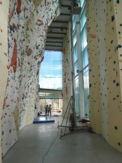 Venkovní stěna na Ruzyni