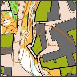 Ukázka mapy žateckého městského sprintu (koná se 30. 5. 2015)