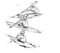Široký záběr od přídě<br>Kreslil Broňa Kračmar