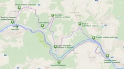 Trasa v mapě