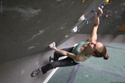 Nelly Kudrová na boulderu