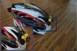 Uchycení na cyklistickou helmu za pomoci kšiltu