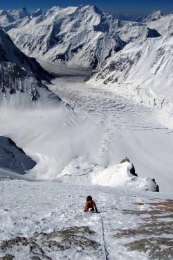 Cesta do výškového tábora, Gasherbrum II, Karakorum