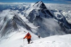 Panorama Karakorumu z 8000 metrů, naproti Gasherbrum I