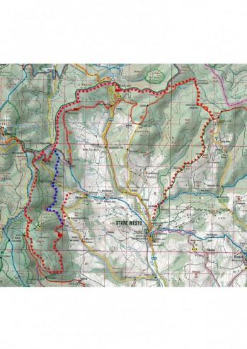 tradiční trasa pro muže cca 35 km (červené značení), pro ženy (modrá zkratka) cca 28 km převážně v přírodní stopě. Podle sněhových podmínek může být trasa změněná.